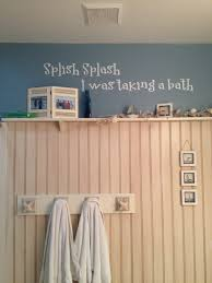 Beach Theme Bathrooms Beach Themed Bathroom 3 4 Of Wall Covered With Bead Board