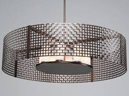 picture of tweed mesh drum pendant chandelier 48
