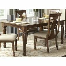 liberty furniture rustic tradition 84x42 rectangular dining table in cherry um wood
