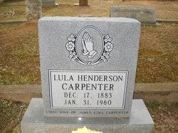 Lula May Henderson Carpenter (1883-1960) - Find A Grave Memorial