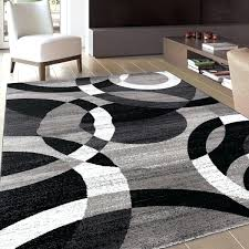 marvelous area rug in contemporary modern circles grey abstract 7 x 2 10 rugs outdoor