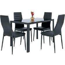 modern kitchen dining table rectangle glasstop faux leather chair dining room faux leather chairs glass dining table and 6 faux leather chairs