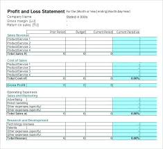 Free Printable Profit And Loss Statement Form Free Profit And Loss Statement Form Small Business Accounting Small