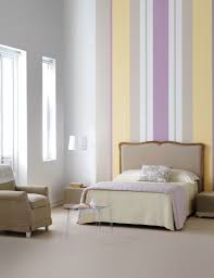 Fascinating Home Interior Design And Decoration Using Stripped Wallpaper : Cool  Bedroom Decoration Using Bedroom Stripped