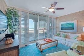 Cottage Living Room with Ceiling fan & flush light in Pensacola