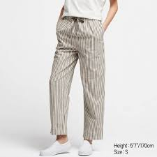 Uniqlo Au Size Chart Women Cotton Relax Ankle Pants