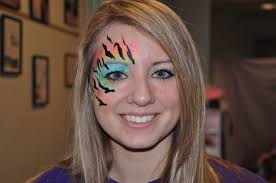 photo of face fantasy face painting red lion pa united states neon