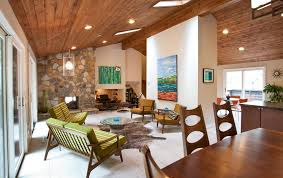 Wood ceiling power for a ranch style