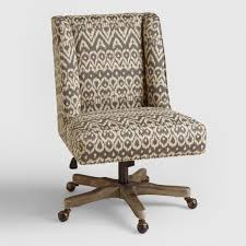 upholstered office chairs. Driftwood Ikat Ava Upholstered Office Chair Chairs