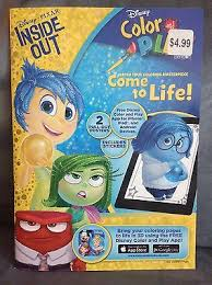 Kids are exposed to all the (locked) options available each time they play. Disney Pixar Inside Out Color And Play Coloring Book For Use With Disney App Ebay