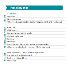 how to make a budget sample monthly budget 5 documents in pdf word