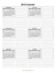 printable 6 month calendar 2019 calendar 2019 template six months per page printable calendar 6