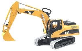 <b>Экскаватор Bruder</b> гусеничный <b>CAT</b> (02-438) 1:16 54 см — купить ...