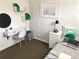 green white grey boys room