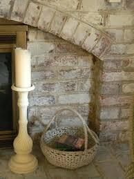 tiling over painted brick fireplace surround painting whitewash white ideas