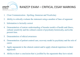 how to avoid the most common medical essay writing mistakes ranzcp essay marking criteria