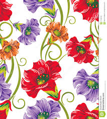 Textile Designs Pictures Seamless Vector Flowers For Textile Designs Stock Vector