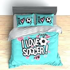 image 0 soccer bedding twin sheet set custom duvet comforter