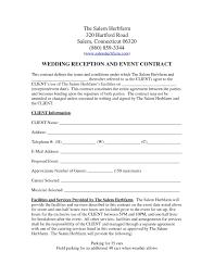 Venue Contract Template Venue Contract Template 7885