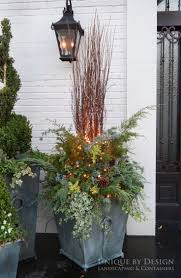 Container garden, winter container design, winter container garden, using  greenery in containers,