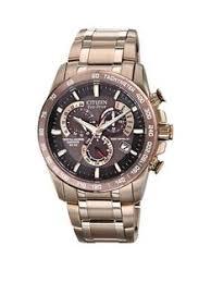 citizen shop citizen at very co uk citizen eco drive perpetual chrono a t radio controlled bracelet mens watch