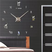 roman numerals simple and elegant let you make your own and then can enjoy your own art work the wall clock is 3d effect easy to install and remove the