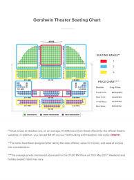 Gershwin Theatre Seating Chart View Gershwin Theater Seating Chart Wicked Seating Guide