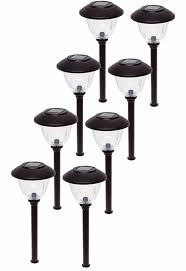 Energizer Solar Lights New Led Energizer 10pack Solar Pathway Lights Outdoor Stainless Steel Bronze