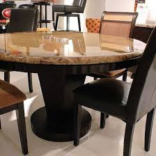 Wood And Granite Stone Dining Table Set In Round Shape Table In Mesmerizing Granite Dining Room Tables And Chairs