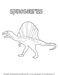 Small Picture spinosaurus coloring page Dinosaurs Pinterest Spinosaurus