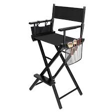 mefeir upgraded folding tall director artist makeup chair with replacement cover canvas storage side bags portable footrest support 250 lbs solid