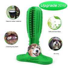 perfecto dog toothbrush stick toothbrush chew toy dog teeth cleaner durable natural rubber bite resistant care toys for large and um dogs
