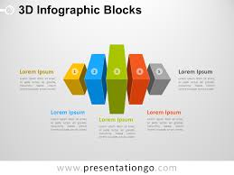3d Flow Chart Powerpoint 3d Infographic Blocks For Powerpoint Presentationgo Com