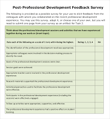 Professional Survey Template Ms Word Professional Development Feedback Survey Pdf
