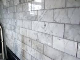 marble subway tile grout carrara
