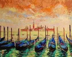 gorgeous venice original landscape palette knife oil painting framed painting by alena shymchonak
