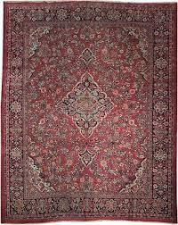 semi antique area persian sarouk mahal rug 11x14