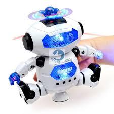 GIÁ TỐT] Chỉ 159,000đ - Robot thông minh xoay 360 độ cảm biến né vật cản  không sợ ngã có nhạc vui nhộn cho bé chơi tại nhà! - Xả Sả Xả