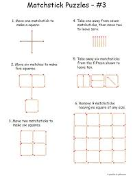 We have a whole collection of matchstick puzzles that are easy for ...