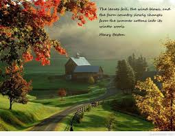 september autumn quote with awesome autumn image
