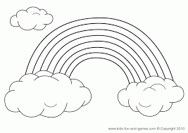 Small Picture Rainbow Coloring Page Printable Picture Coloring Rainbow Coloring