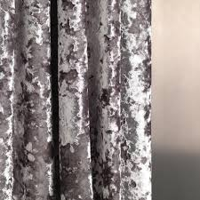 Silver Bedroom Curtains Silver Grey Velvet Curtain Fabric By Fibre Naturelle Panther