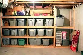 basement storage ideas boxes