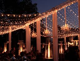 Twinkle lights and Market lights on our truss structure