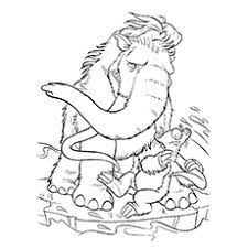 Small Picture 10 Cute Ice Age Coloring Pages For Your Toddler