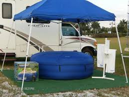 rv with hot tub rv flag flyers home and for the most fun of all what