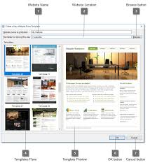 Topic: Create New Website From Template Dialog
