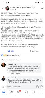 Rumor Etihad To Join Star Alliance Flyertalk Forums