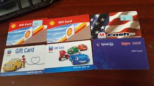 total of 35 00 in gift cards for s chevron eon mobil marathon