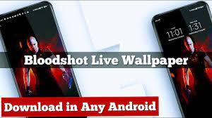 BloodShot Live wallpaper